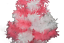 18/'/' Pink /& White Tinsel Tree Christmas Easter Holiday Tree 1.5/' Table-Top Decor