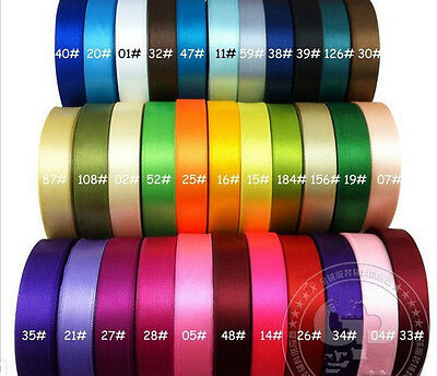 "25Yards 1""(25mm) Ribbon Wedding Party Craft Satin DIY hair Bow 30 colors"