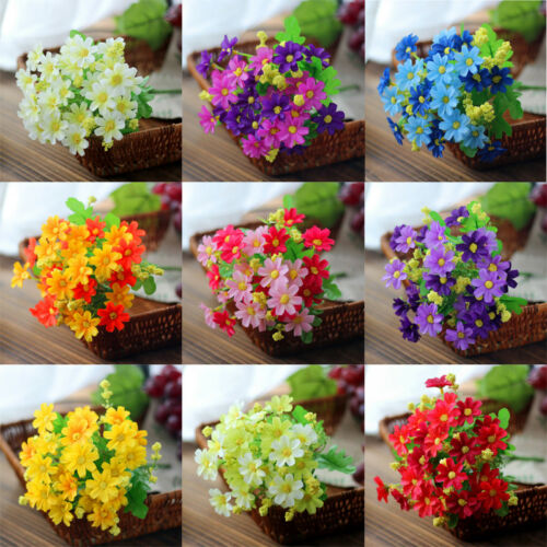 28 Heads Favorite Fake Daisy Artificial Silk Flower Home Wedding Decor 9 Colour