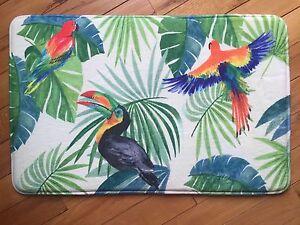 Image Is Loading Tropical Paradise Parrot Memory Foam Bath Rug Botanical
