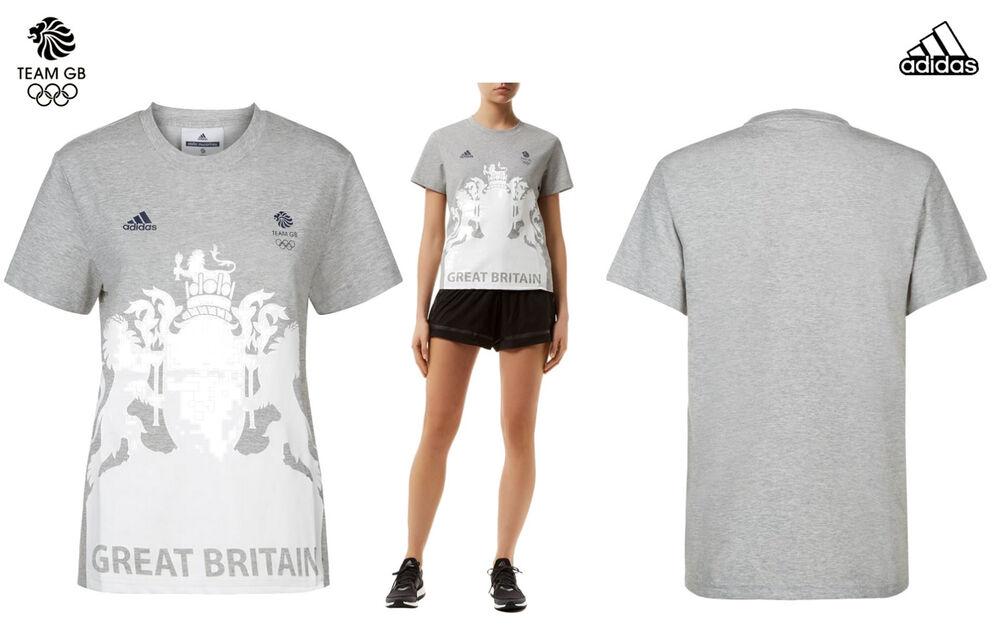 Adidas Stella Mccartney Team Gb Elite Lady Athlète Village T-shirt Taille M 36/38