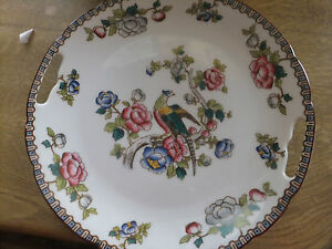 VICTORIA AUSTRIA PORCELAIN CAKE SERVING PLATE WITH BIRD OF PARADISE AND FLOWERS - <span itemprop=availableAtOrFrom>PADSTOW, CORNWALL, United Kingdom</span> - VICTORIA AUSTRIA PORCELAIN CAKE SERVING PLATE WITH BIRD OF PARADISE AND FLOWERS - PADSTOW, CORNWALL, United Kingdom