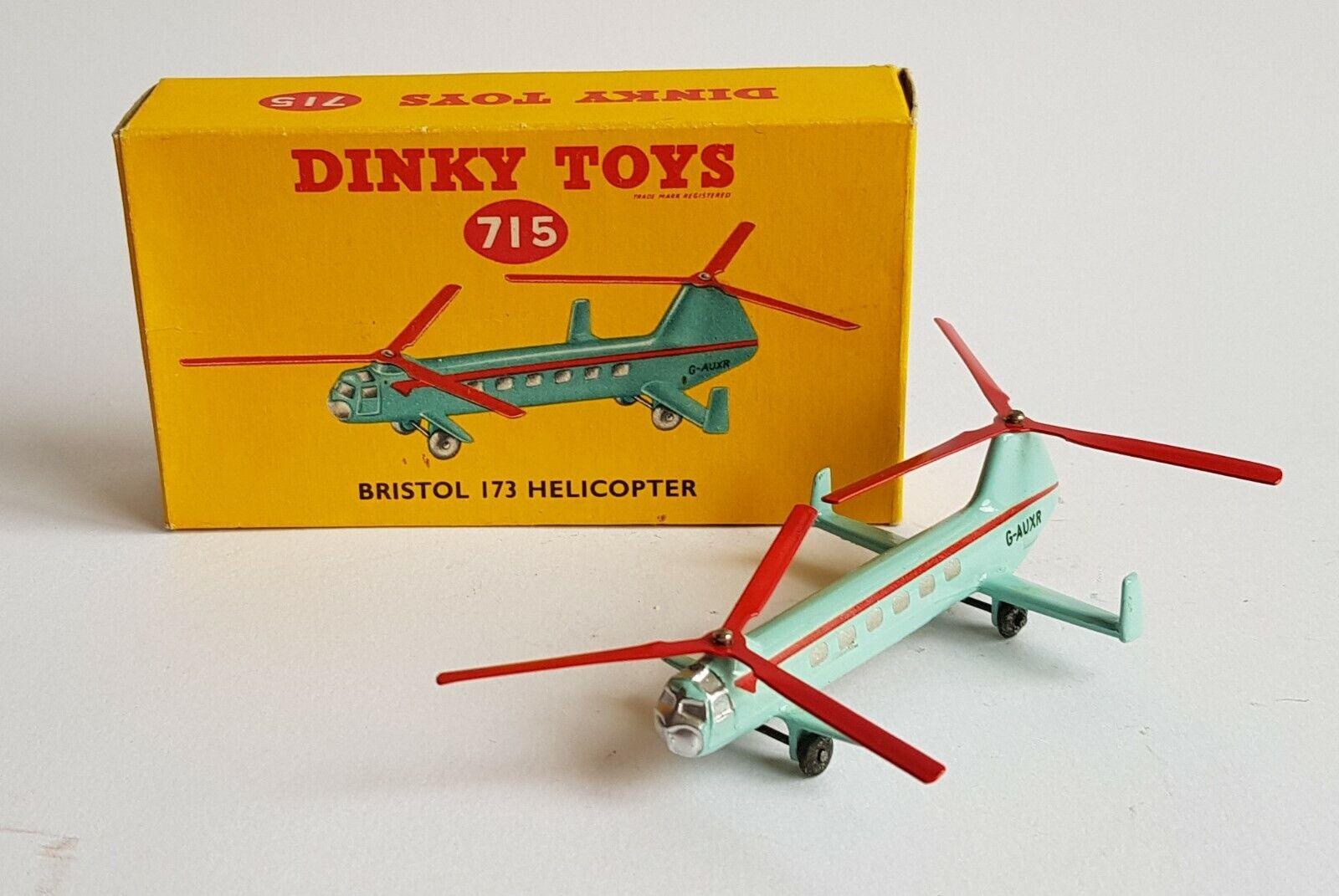 Mycket sällsynta Dinky leksaks No. 715, Bristol 173 Helicopter, - Superb Mint Condition.