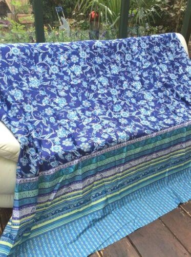 Bassetti Satin Stoff Sateria blau 240x220cm für Tischdecke Vorhang Bettwäsche