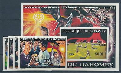 Briefmarken Dahomey Nr.605-608b+block 49b** Fußball ZuverläSsig 237214