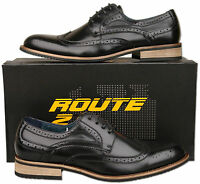Mens New Black Lace Up Leather Lined Brogues Shoes Size 6 7 8 9 10 11 12 13