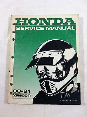 HONDA XR600R DEALER'S SERVICE MANUAL GUIDE 88-91 1988 1989 1990 1991