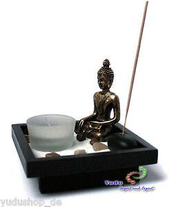 Nr:YD-31 mit Buddha Zen-Garten 4er Teelichthalter