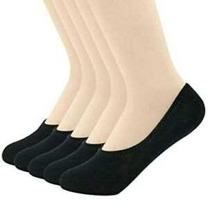 3-12 Pairs Womens Ankle Liner Solid Plain Cotton Invisible No Show Boat Socks