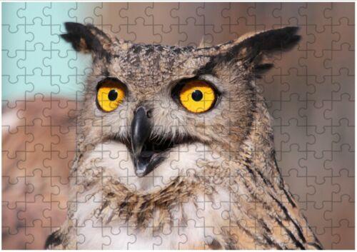 peut personnaliser Hibou Oiseau Sauvage Pet A4 Jigsaw Puzzle anniversaire cadeau de Noël