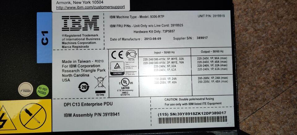 Strømforsyning, IBM Enterprise Power Distribution Unit,
