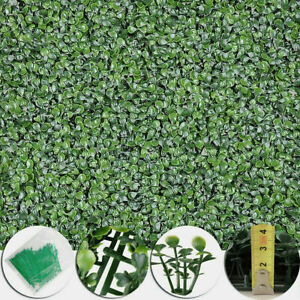 20x20-034-Artificial-Boxwood-Wall-Hedge-Mat-Privacy-Fence-Decor-Grass-Panel-w-Ties