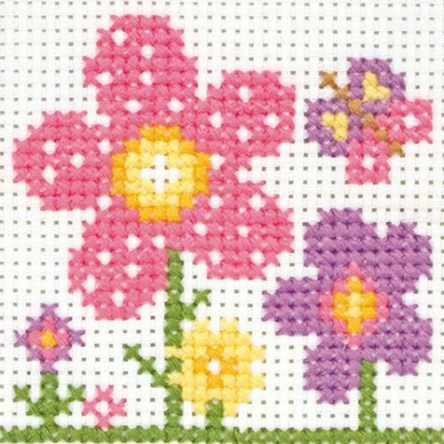 Sarah Flowers 10007 Anchor Beginners 1st Cross Stitch Kit
