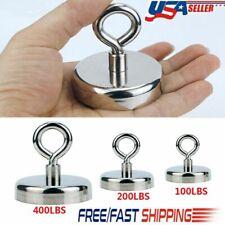 100200400lbs Fishing Magnet Lifting Hook Strong Pull Force Retrieving Treasure