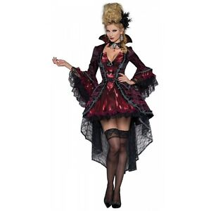 Image is loading V&ire-Costume-Adult-Victorian-Masquerade -Halloween-Fancy-Dress  sc 1 st  eBay & Vampire Costume Adult Victorian Masquerade Halloween Fancy Dress | eBay
