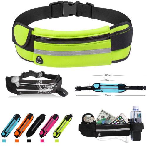 Unisex Running Belt Sport Jogging Key Mobile Money Bum Bag Waist Travel Pouch UK