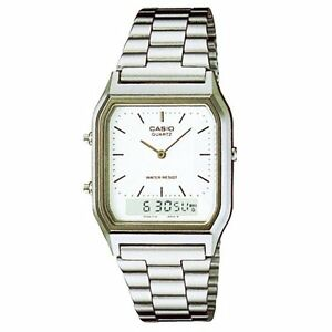 CASIO VINTAGE AQ-230A-7D SILVER STAINLESS WATCH FOR MEN AND WOMEN-COD+FREE SHIP