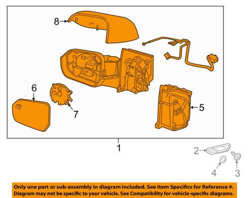 Chevrolet GM OEM 16-17 Volt FRONT DOOR-Mirror Assembly Right 23406467