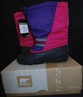 Sorel Cub Big Girls Size 7m Winter Snow Boots Bright Rose Pink/purple Women 9