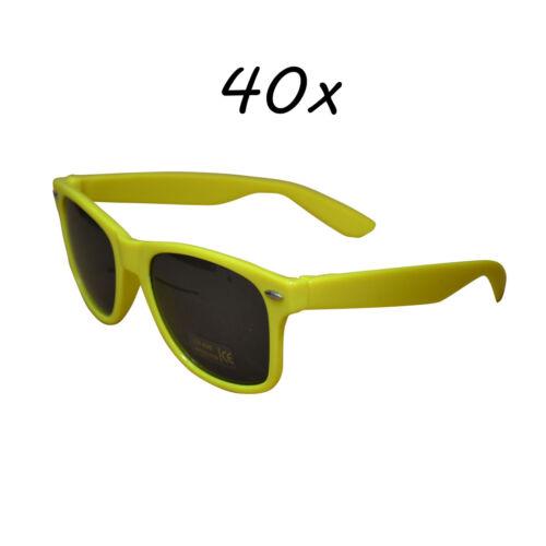40 Stück Sonnenbrillen 80er Nerd Style Brille Retro Atzenbrille Brillen