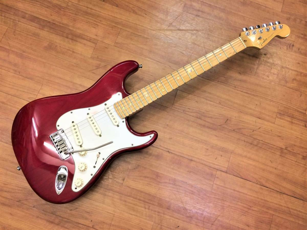 Fender American Deluxe Stratocaster Ash Crimson rot Transparent   Maple EMS F S