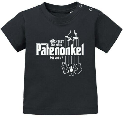 Baby T-Shirt kurzarm Babyshirt Patenonkel Willst du mein Patenonkel werden