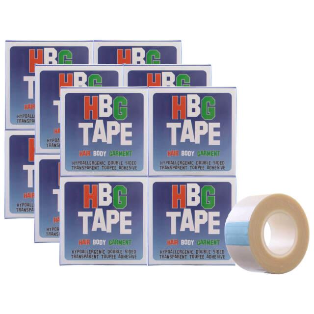 Hbg Peluca Cinta 25mmx5m 12 Rollos Hipoalergénico Transparente 2-Sided Tupé