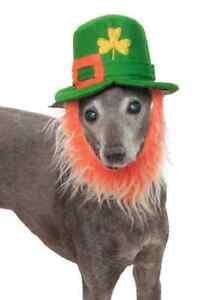 Leprechaun Hat Beard St. Patrick's Day Halloween Pet Dog Cat Costume Accessory