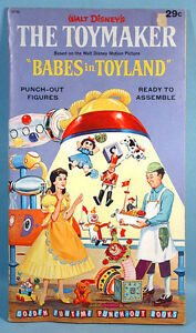 Babes In Toyland Punch Out Doll Toy Book Annette Funicello