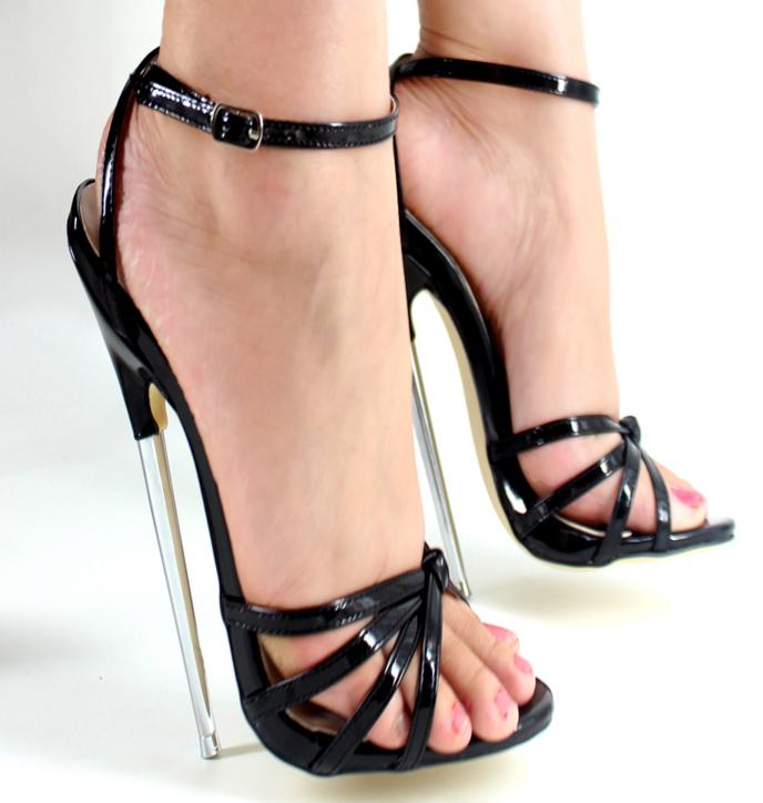 Para mujer romana Puntera abierta abierta abierta Correa de Tobillo Hueco Zapatos Tacón Alto Tacones De Aguja Súper Plus talla  promociones de descuento