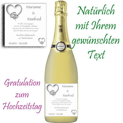 *1 X Flaschenaufkleber Zur Platinhochzeit *glÄnzend! 55.hochzeitstag Dauerhaft Im Einsatz