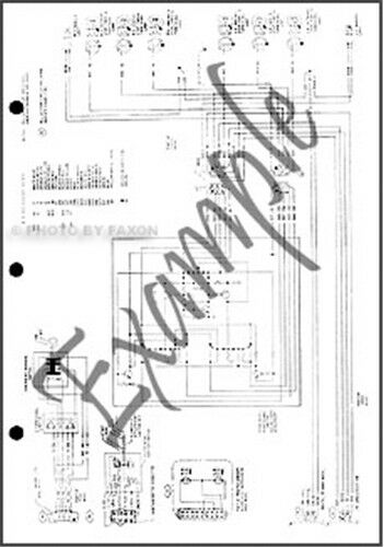 1986 Ford Cargo Truck Foldout Electrical Wiring Diagram Original Schematic OEM