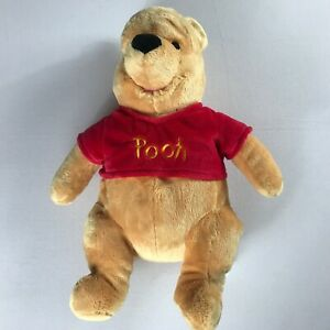 Disney-Store-Pooh-Bear-Plush-Large-17-034-Stuffed-Beans-Stamped-Toy-Patch-Winnie