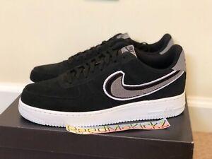 wholesale dealer 138c3 b1759 Details about Nike Air Force 1 Low '07 LV8 Chenille Swoosh Black Grey Mens  sizes 823511 014