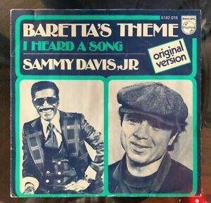 SAMMY DAVIS , JR -  BARETTA'S THEME / I HEARD A SONG 45RPM VINYL SINGLE 1976