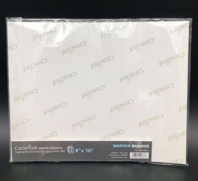 """215-0810 8/""""x 10/"""" 3Pc Crescent Marker Boards"""