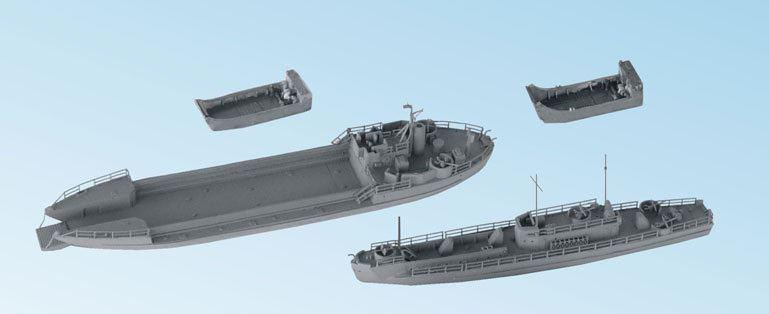 1 700 Niko Model US Navy WW2 Landing Ship Set  Resin Model Kit