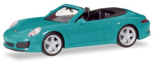Herpa 1:87 028844-002 Porsche 911 carrera 2 cabrio nuevo! miami azul
