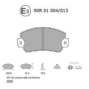 Pastiglie-Freno-Anteriore-AUTOBIANCHI-Y10-FIAT-PANDA-141-141A-LANCIA-Y10-156