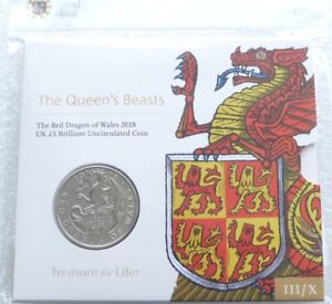 2018-Royal-Mint-Queens-Beasts-Red-Dragon-of-Wales-5-Five-Pound-Coin-Pack