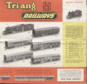 catalogo TRI-ANG 1958 TRIANG TT RAILWAYS Second Edition TT Gauge   E   aa