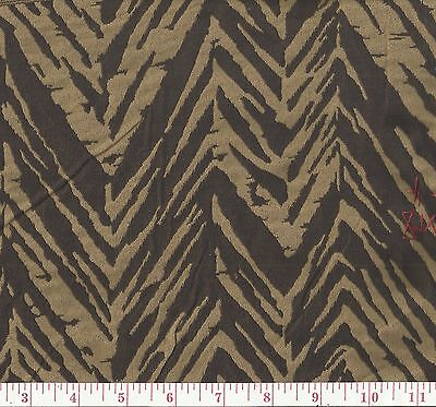 Brown Beige Woven Jungle Cat Stripe Upholstery Fabric Doyer Chestnut BTY