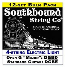 12-pack Cigar Box Guitar Strings: 4-string Electric Lite Open DGBD/DGBE 34-09-02
