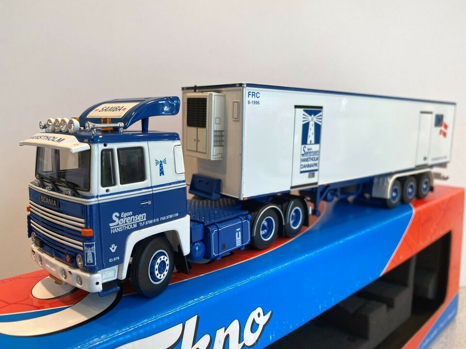 Modellastbil, Tekno Egon sørensen Hanstholm Scania 141,