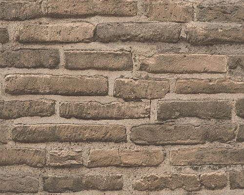 Vlies Tapete Stein Wand Ziegelstein Backstein Klinker Optik braun grau 30747-2