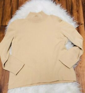 Escada-Margaretha-Ley-Womens-Sweater-vintage-Top-beige-mock-neck-please-read-42
