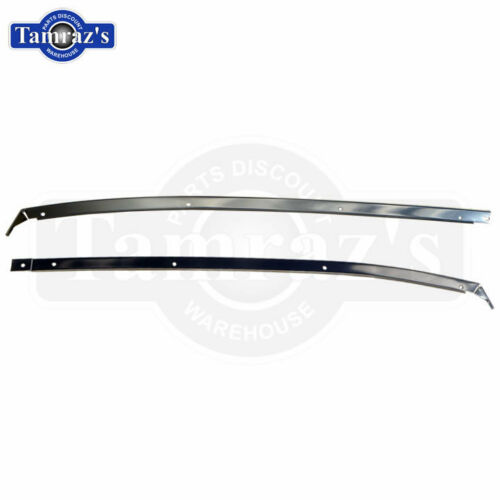 78-88 A//G Body T-Top FRONT Roof Trim Molding /& Weatherstrip Retainer CHROME PAIR