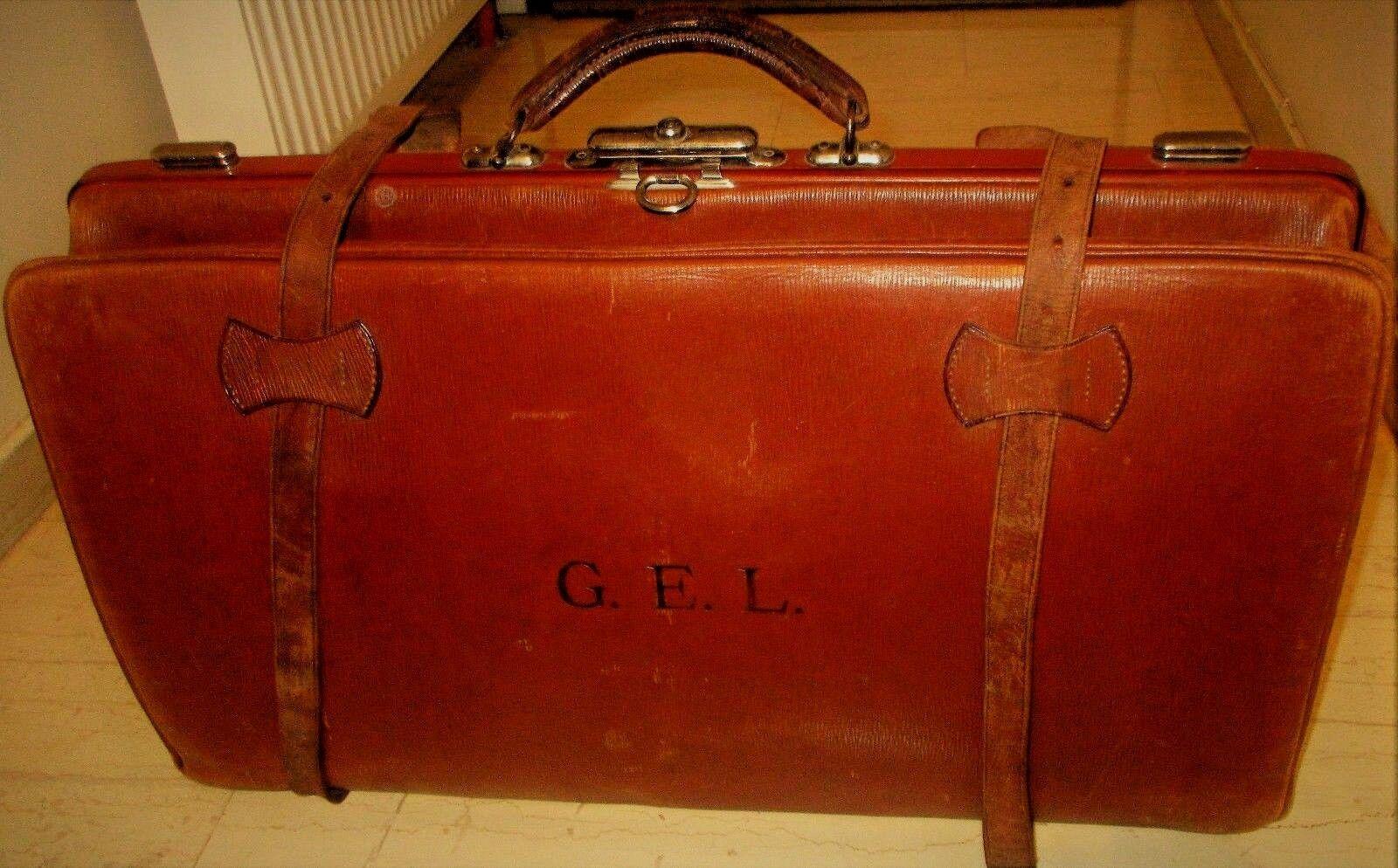 Unique Vintage Qualité extra CUIR bagages braun Sac de voyage de 30 s