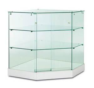 Dettagli su vetrine ad angolo , vetrina negozio, vetrinette ad  angolo,espositori ad angolo