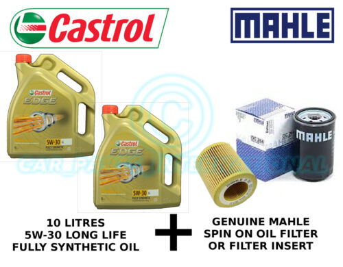 MAHLE Engine Oil Filter OX 177/3D plus 10 litres Castrol Edge 5W-30 LL F/S Oil